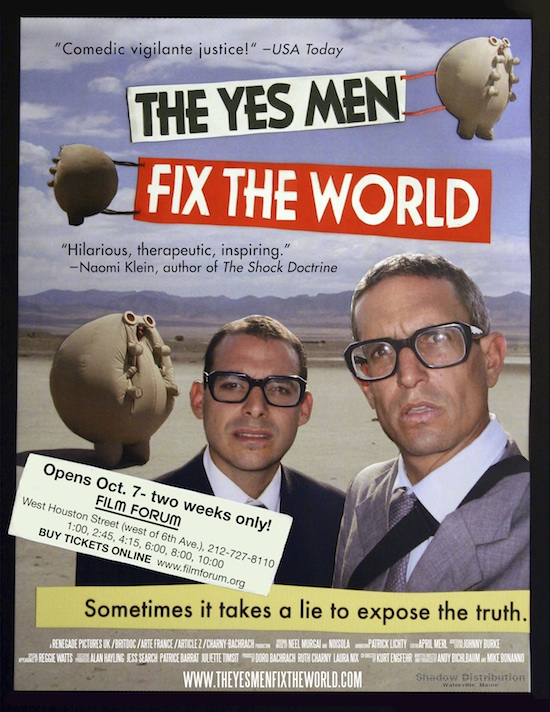 Filmplakat Yes Men Fix the World